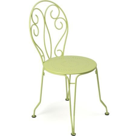 Pair of Fermob Montmartre Garden Chairs - Willow Green