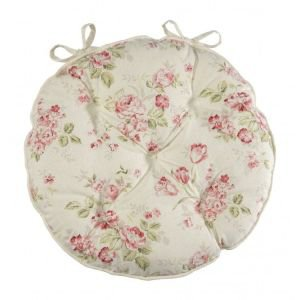 Pastorale Round Chair Pad with Ties