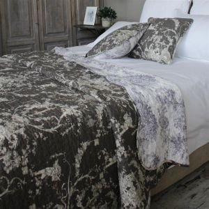 Charcoal Toile de Jouy French Bedding