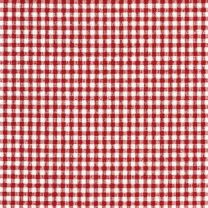 Red Gingham Vintage Oilcloth