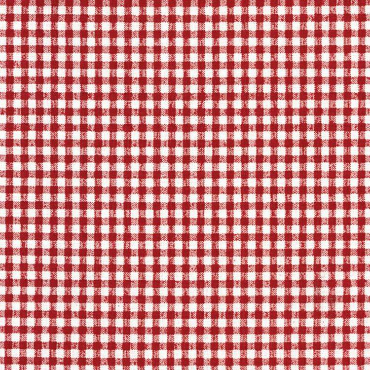 Red Gingham Oilcloth Material