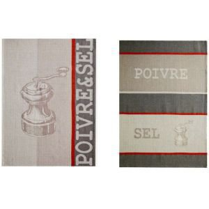 French Tea Towel Set - Salt and Pepper