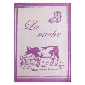 French tea towel - Vache