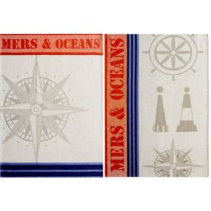 French tea towel set - Mer et ocean