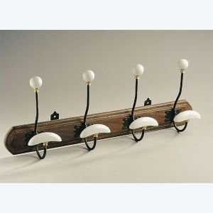 4 Hook Ceramic Coat Hanger