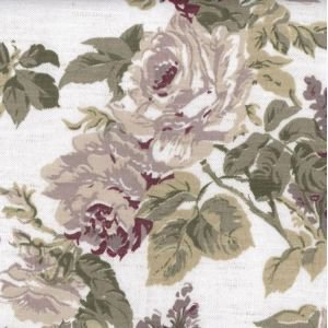 Floral White Oil Cloth