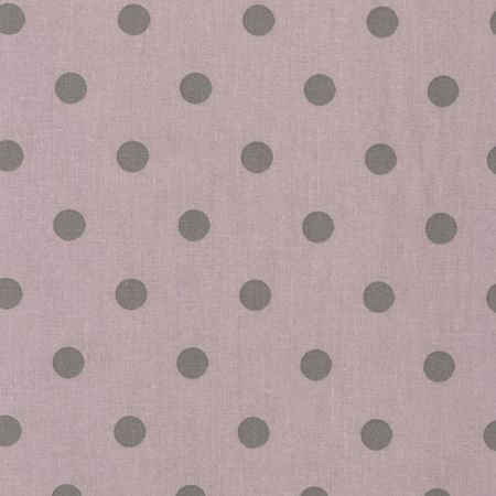 Dusty Pink & Grey Polka Dot Oilcloth Fabric