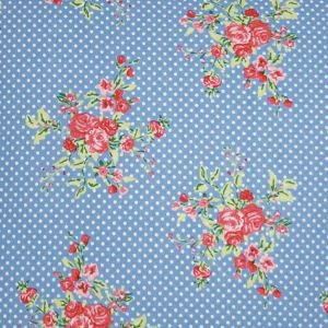 Flora Blue Oil Cloth