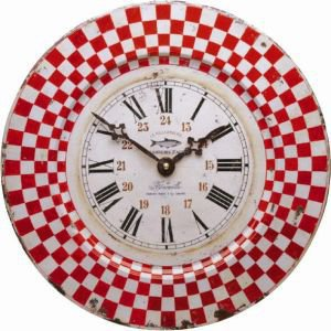 Red Check French Clock