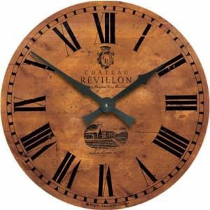 Aged Pine Effect Chateau Clock