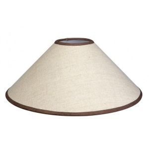 Chocolate edged cream coolie lampshade