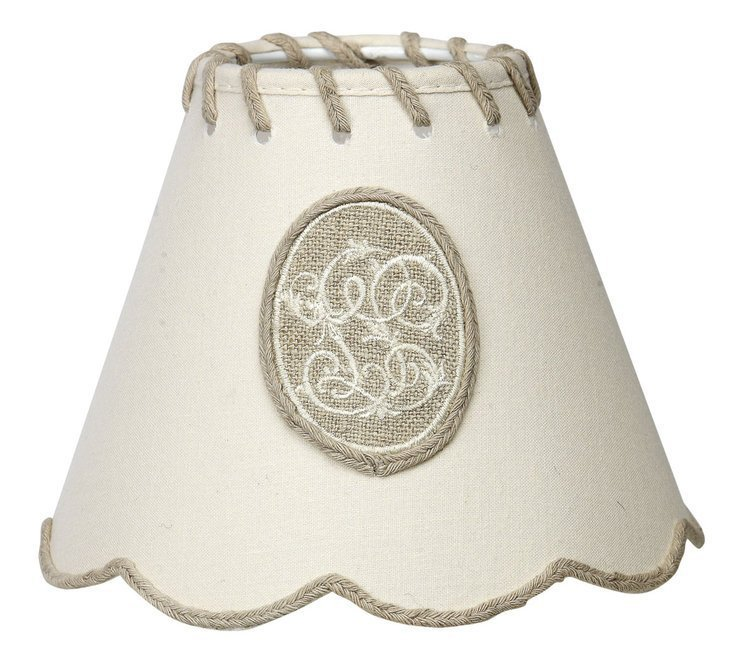 Scalloped Ivory Clip Shade