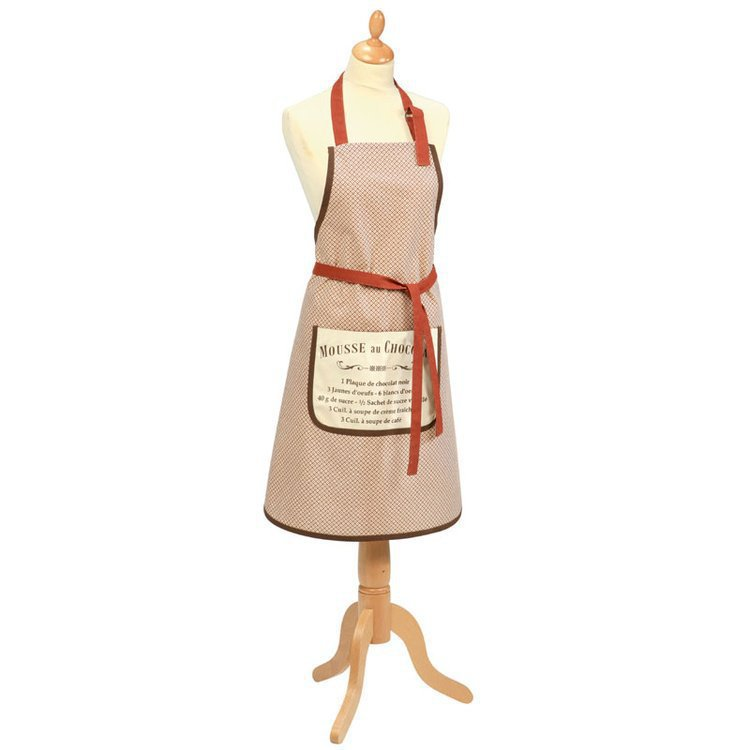 Cotton apron 'Chocolat' design