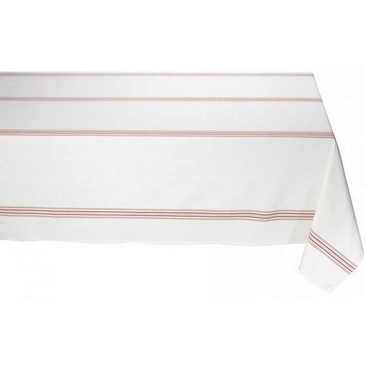 Metis stripe cream square tablecloth