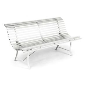 Fermob Louisianne Metal Garden Bench - White
