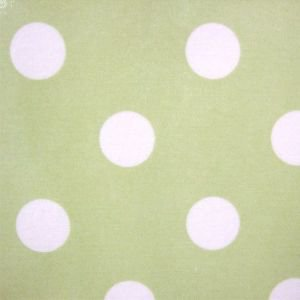 Pistachio Large Polka Dot Oil Cloth