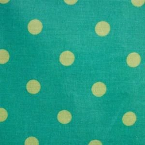 Azur & Pistachio Polka Dot Oil Cloth