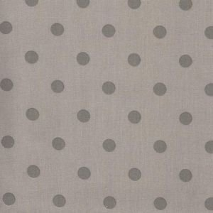 Latte & Grey Polka Dot Wipe Clean Oilcloth Tablecloth