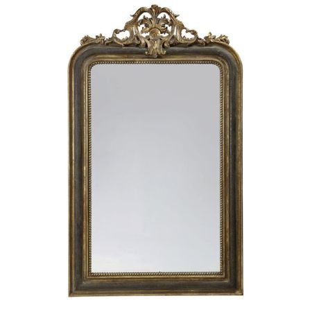 XL Black and Gold French Style Mirror