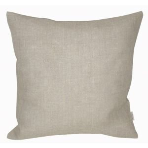 Plain Linen cushion - Latte