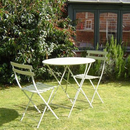 Bistro Furniture Set Table 96cm and 4 Chairs