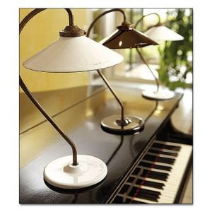 Brass and Ceramic French Table Lamp - Natural