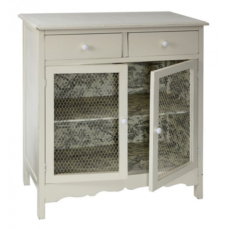 Comptoir de famille toile cupboard with drawers french - Table comptoir de famille ...