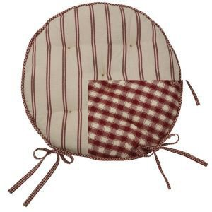 Campagne Reversible Round Garden Seat Cushion with Ties