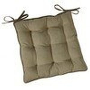 Linen colour square Garden Seat Cushion with ties