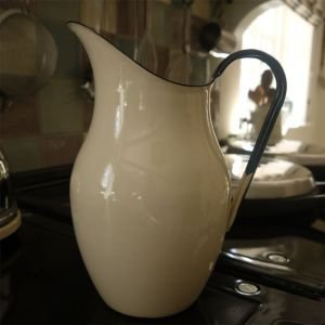 Cream Enamel Pitcher 2.5 litre