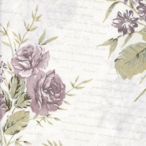 Floral Script Oil Cloth - Lavender