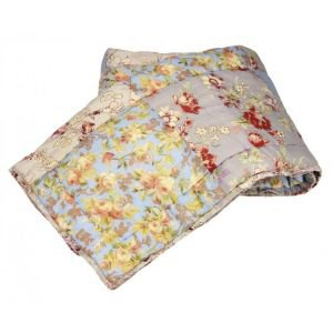 Vintage Print Patchwork Bed Throw