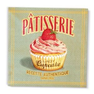 Retro Paper Serviettes - Patisserie