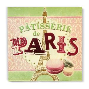 Retro Paper Serviettes - Patisserie de Paris