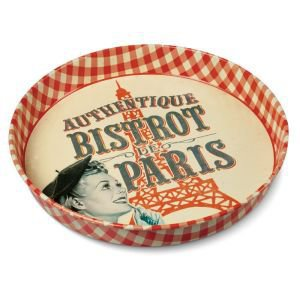 Retro Metal Tray - Bistrot de Paris