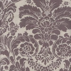 Lavender Damask Oil Cloth