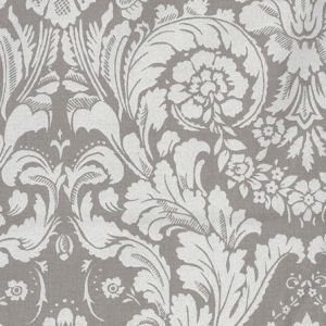 Grey & white Damask Oil Cloth