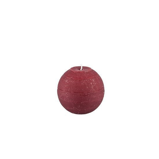 8cm Ball Candle - Bordeaux Red