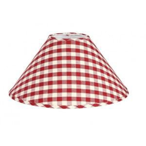 Cherry Red Gingham Lampshade 25cm