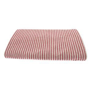 Red ticking stripe rectangular tablecloth 150 x 230cm