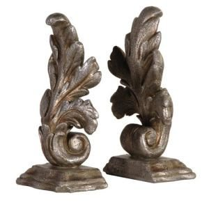 Pair of Decorative Leaf design bookends