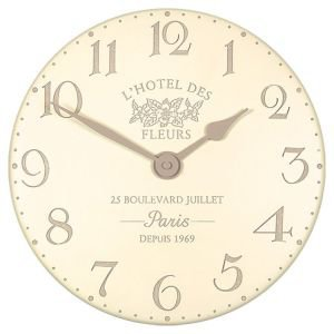 French Style Clock - Hotel de Fleurs Cream