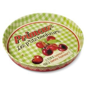 Retro Round Metal Tray - Primeur