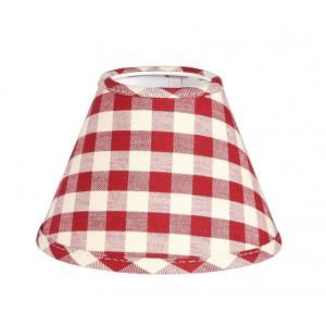 Red check wall light shade