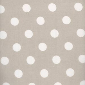 Toffee Large Polka Dot Wipe Clean Oilcloth Tablecloth