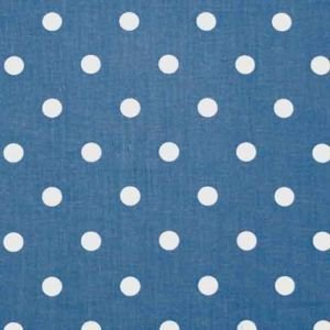 True Blue Polka Dot Oil Cloth