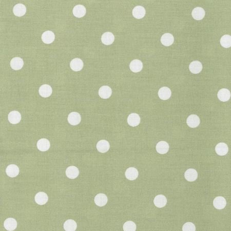 Forest Green Polka Dot Wipe Clean Oilcloth Tablecloth