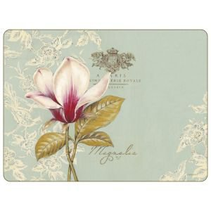 Set of 6 Duck Egg Floral Placemats