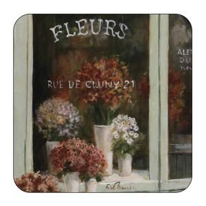 Set Of 6 Florist Shop Coasters