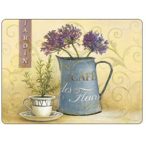 Set of 6 Cafe Des Fleurs Placemats